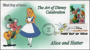 AO-3913–1, 2005, The Art of Disney Celebration, Digital Color Postmark, Alice