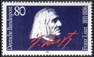 Germany # 1464 mnh ~ 80pf Franz Liszt, Composer