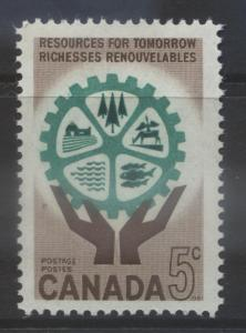 Canada - Scott 395 - National Resources-1961 - MLH - Single 5c Stamps