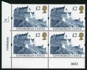 SG1613 1992 Two Pound Castle (Indigo) Plate 2T Normal Paper U/M