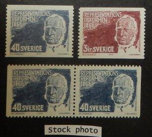 Sweden 701-03. 1966 Baron Louis De Geer, assembly reformer, NH
