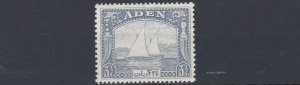 ADEN  1937  S G  7   3 1/2A   GREY  BLUE         MH