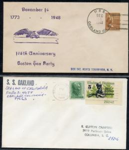 UNITED STATES USS - SS OAKLAND LOT OF 2 ALL DIFFERENT COVERS 1948-1968 (27)