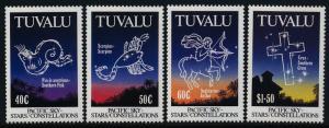 Tuvalu 586-9 MNH Stars, Constellations