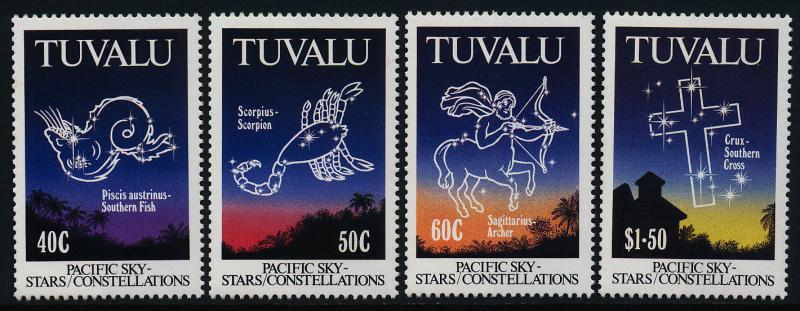 Tuvalu 586-9 MNH Stars, Constellations