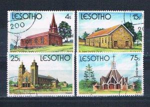 Lesotho 314-17 Used set Churches 1980 (MV0145)+