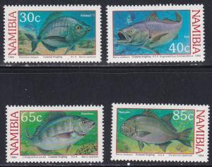 Namibia # 755-758, Coastal Fish, NH, 1/2 Cat.