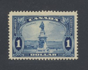 Canada $1.00 stamp #227-$1.00 Champlain MH F/VF Guide Value = $62.50