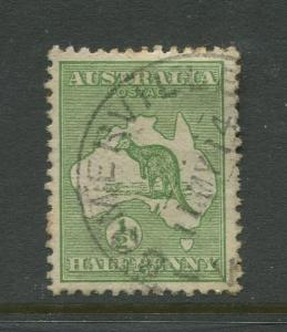 Australia  #1 Used 1913  Single 1/2p Stamp