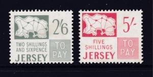 Jersey the 2 high values MH from the 1969 Post Due set