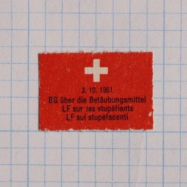 Swiss Red Cross Narcotic Drug abuse addict rehab charity ad Poster stamp seal DL