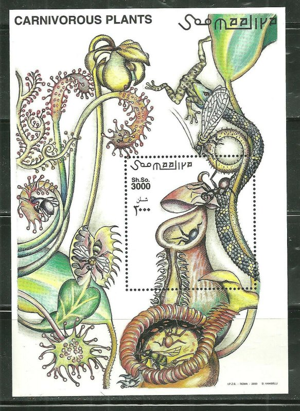 Somalia MNH S/S Carnivorous Plants