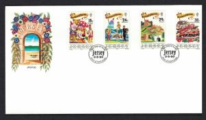 Jersey Festival of Tourism FDC SG#521-524