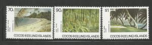 COCOS ISLANDS, 159-161, MNH, ISLAND VIEWS