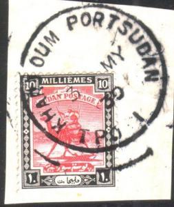 SUDAN 1930 piece KHARTOUM  PORTSUDAN TPO 1 skeleton cds....................25656