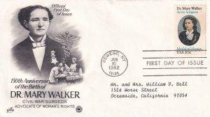 1982, Honoring Dr. Mary Walker, Art Craft/PCS, FDC (E11366)