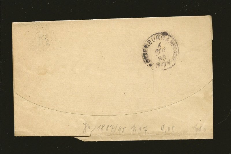 USA Postmarked 1895 1 Cent Blue Franklin Newspaper Wrapper
