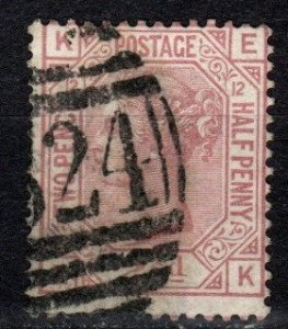 Great Britain #67 Plate 12  F-VF Used  CV $60.00 (X344)