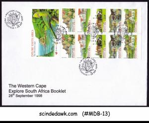 SOUTH AFRICA - 1998 THE WESTERN CAPE - STAMPBOOKLET on FDC