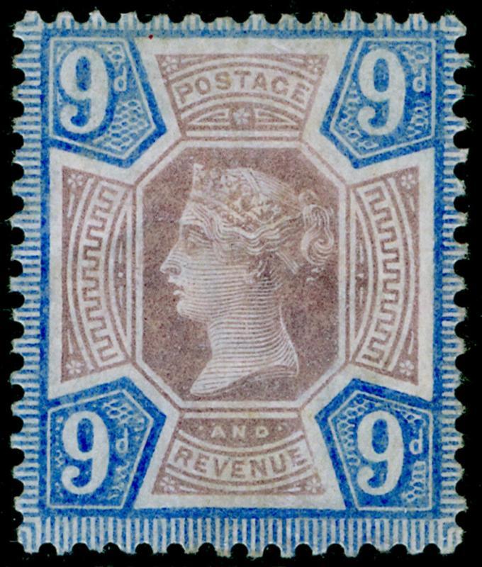 SG209 SPEC K38(1), 9d dull purple & blue, M MINT. Cat £75.