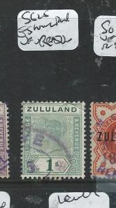 ZULULAND (P1807B) QV 1/-  SG 25   ESHOWE DOUBLE RING CANCEL  VFU