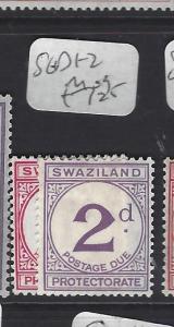 SWAZILAND  (P1510B)  POSTAGE DUE SG D1-2   MOG
