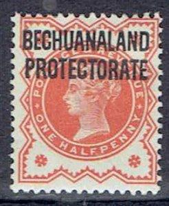 Bechuanaland Protectorate, Scott #69; Overprinted 1/2p Queen Victoria, MH