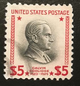 834 Coolidge, Circ. single, Vic's Stamp Stash