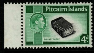 PITCAIRN ISLANDS SG5b 1951 4d BLACK & EMERALD-GREEN MNH