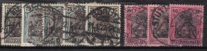 Old  REICH ^^^^ sc# 90a,91 used GERMANIAS( Good cancels ) $$$@ lar1785ge5