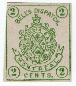 (I.B) Canada Local Post : Bell's Dispatch 2c (Montreal)