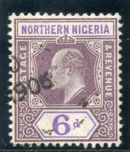 Northern Nigeria 1905 KEVII 6d dull purple & violet (O) very fine used. SG 25.