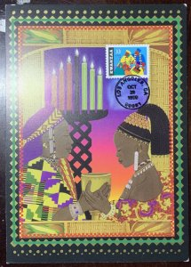 Hideaki Nakano Kwanzaa Greeting Card 7 Principles