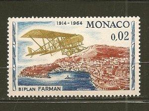 Monaco 566 Farman Bi-Plane MNH