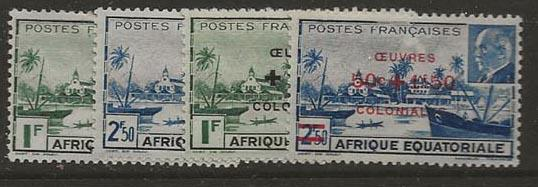 French Equatorial Africa 156-157,B36-B37 [M] ce15