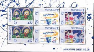 New Zealand 1986 Health miniature sheet UHM