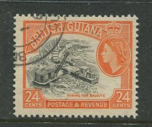 British Guiana - Scott 261 - QEII Definitive Issue -1954 - FU -Single 24c Stamp