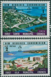 New Hebrides 1976 SG212-213 Constitutional Changes MNH