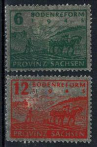 Germany - Russian Zone - Saxony - Scott 13N15-13N16 MNH
