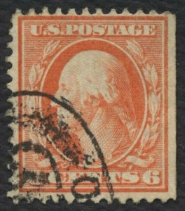 #336 6c Washington, Used [3] **ANY 4=FREE SHIPPING