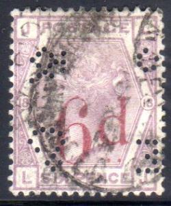 Great Britain  94 perfin  U*     cat$150.00