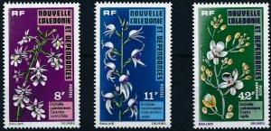 New Caledonia 1975 #408-9,C125 MNH. Flowers