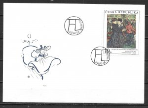 Czech Republic 2937 Lautrec Painting Art FDC First Day Cover