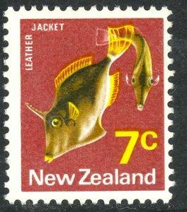 NEW ZEALAND 1970-71 7c LEATHER JACKET FISH Issue Sc 446 MNH