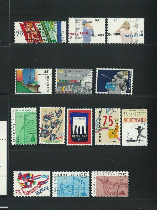 1989 Netherlands Year Set Unused Never Hinged