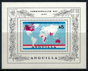 Anguilla #525* NH  CV $7.50 Commonwealth Day 1983 Souvenir sheet