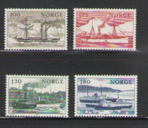 Norway Sc 698-01 1977 Coastal Ships stamps mint  NH