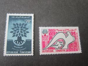 Tunisia 1960 Sc 366-7 set MNH