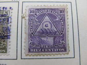 Nicaragua 1898 Unwmk 10c fine mng stamp A11P10F22