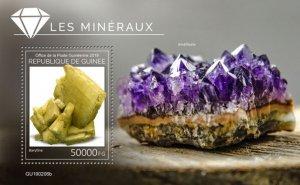 GUINEA - 2019 - Minerals - Perf Souv Sheet - M N H